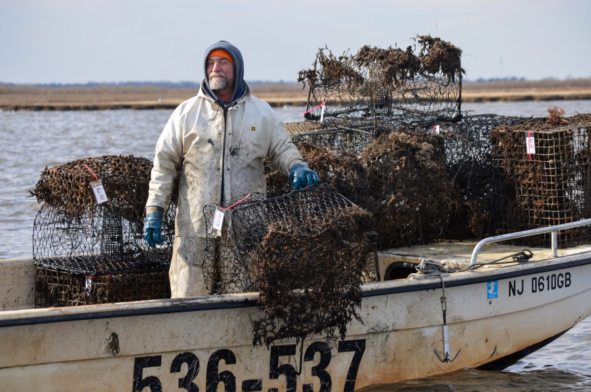 Warren Unkert, after a successful day of fishing for lost crab traps
