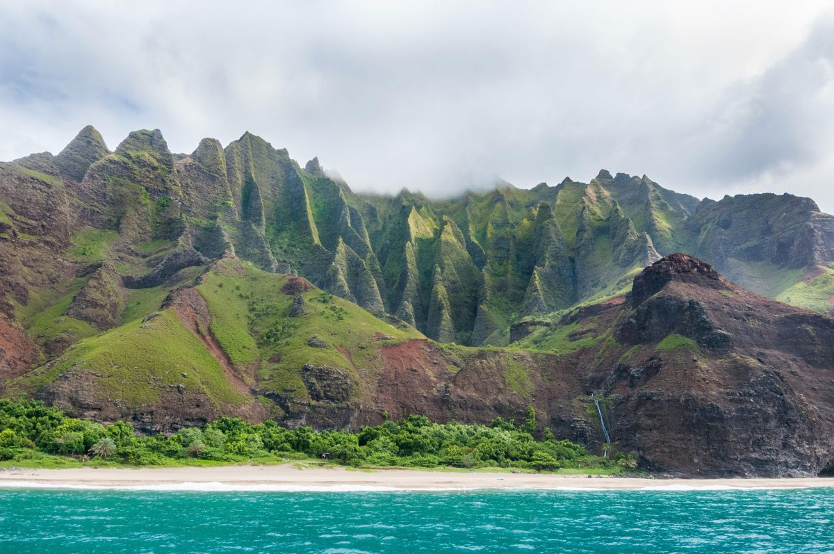 Water view of the Kalalau Valley