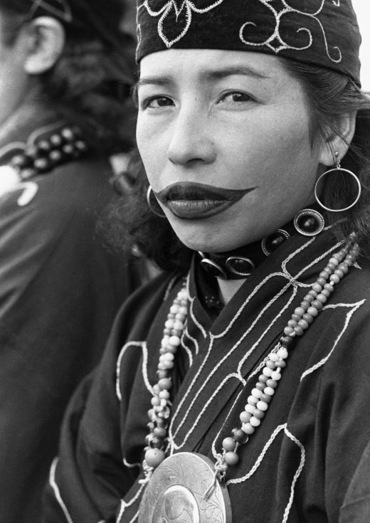 Around the age of 12 or 13, Ainu young women began tattooing their lips, hands, and arms. By age 15 or 16, the tattoos were finished, and the young women ready for marriage. Young men were also considered adults at 15 or 16. Photo by Hulton-Deutsch Collection/Corbis/Getty Images