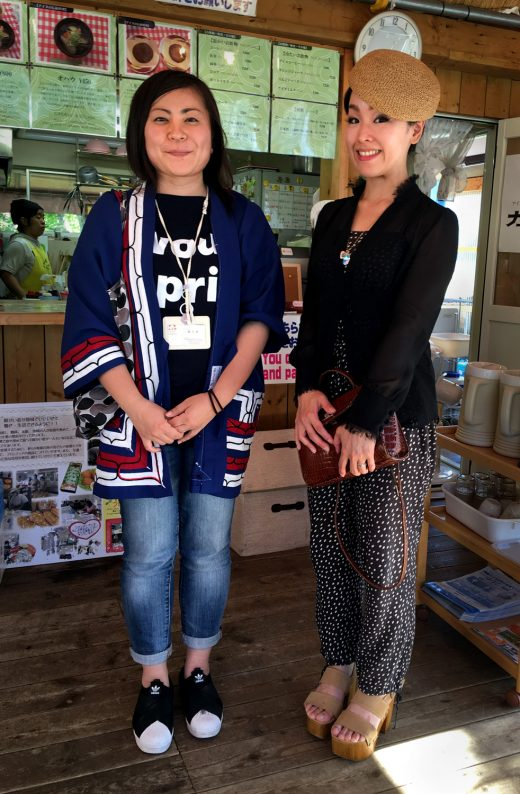 Tomoe Yahata and Mai Ishihara, who both have Ainu heritage, meet for the first time at the Ainu Museum in Shiraoi. Photo by Jude Isabella