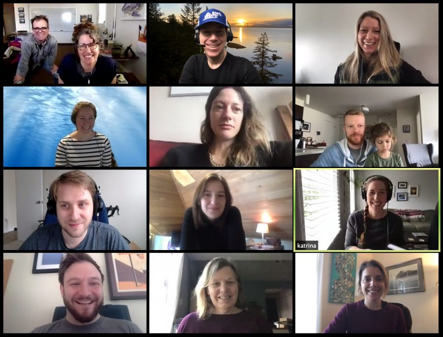 Hakai staff Zoom meeting